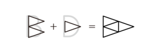 アルファベットのBとDをデザイン